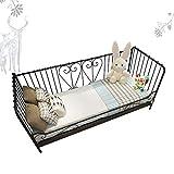 Productos para el hogar Armazón de cama Cama individual de hierro para niños armazón de metal chaise sofá cama empalme para bebés con empalme de barandilla cuna de ensanchamiento adecuada para niño