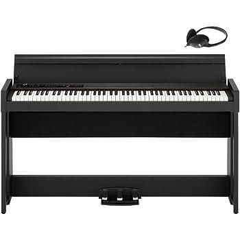 KORG電子ピアノ C1 Air ブラック ヘッドホン付属 演奏記録機能付き ペダル付属 同音連打可能