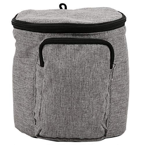 Bolsa de cochecito de bebé gris de tamaño pequeño, bolsa de almacenamiento de cochecito de bebé de tela Oxford, bebés bebé niños niño(Linen gray bag)