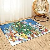 Tappeto grande puzzle Pokemon Creative Art Moderno Decorativo Soggiorno Divano Antiscivolo 91x61cm