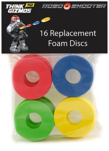 ThinkGizmos RoboShooter by Remote Control Robot - Spare Foam Disks Only (Pack of 16)