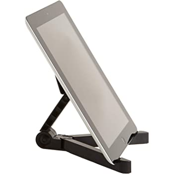 AmazonBasics Adjustable Tablet Holder Stand - Compatible with Apple iPad, Samsung Galaxy and Kindle Fire Tablets