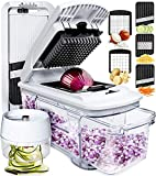 fullstar Mandoline Slicer Spiralizer Vegetable Slicer - Vegetable Chopper Onion Chopper Food Chopper...