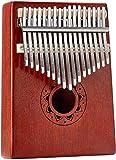Kalimba 17 Teclas,piano de dedo, Instrumento musical portátil para para niños y adultos principiantes