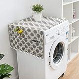 Copertura antipolvere per frigorifero e frigorifero, multifunzione, antipolvere, impermeabile, per lavatrice, stile nordico, motivo geometrico (bianco)