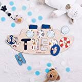 Personalized Wood Name Puzzle With Pegs & Custom Design -...
