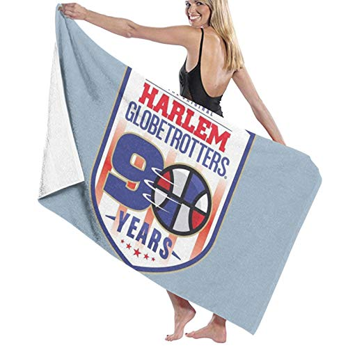 Harlem Globetrotters Toalla de baño de 90 años de secado rápido, suave, toalla de ducha de playa, 130 x 80 cm