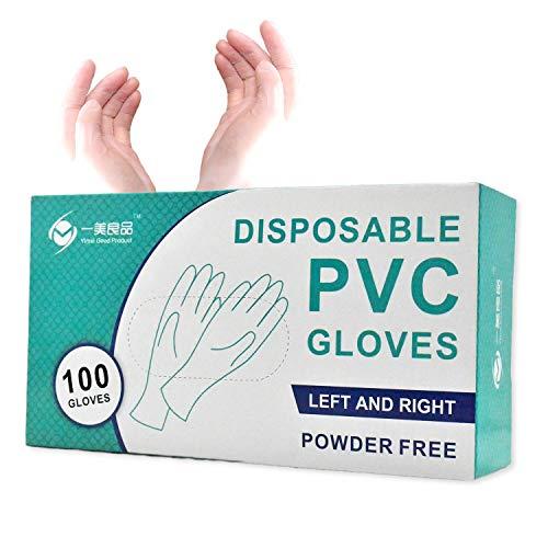ビニール手袋 使い捨て 100枚 使いきり手袋 ゴム手袋 PVC手袋 粉なし Sサイズ ホワイト 極うす手 介護用 予防対策 防疫防護 業務用 美容用 作業用 調理用