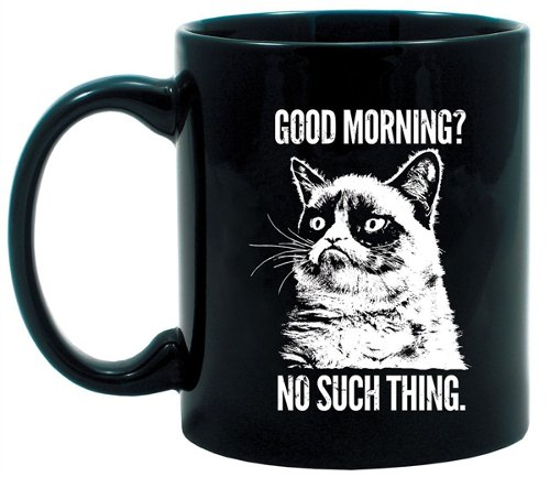 Motif Grumpy Cat/texte Good Morning Tass'en céramique