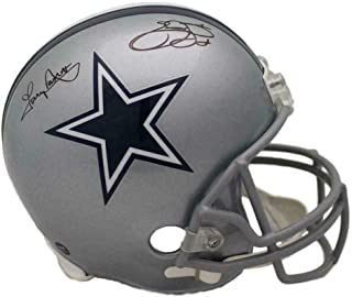 Emmitt Smith & Tony Dorsett Signed Dallas Cowboys Replica Helmet 21886 - JSA Certified - Autographed NFL Helmets
