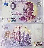 0-Euro-Schein Willy Brandt - 50 Jahre Kanzler - Null Euro ? Souvenirschein (2019-1) -