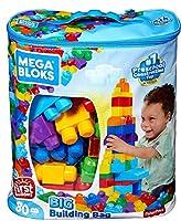 Giocattolo ottimale per i bambini da 1 anno in su Blocchi con nuovi colori facili da trasportare grazie alla sacca senza PVC 80 blocchi First Builder per giocare per ore Compatibile con tutti i prodotti First Builders della Mega Bloks
