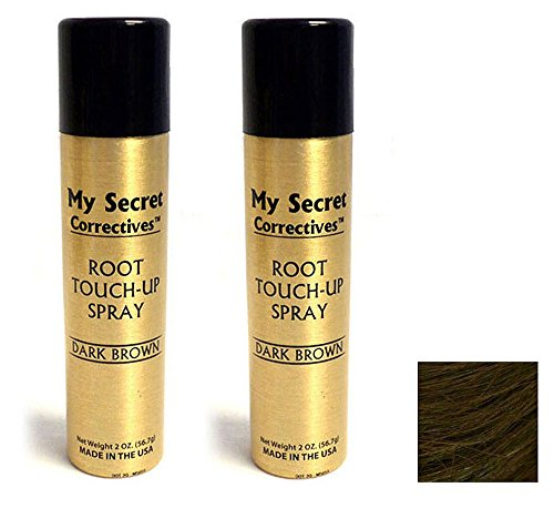 My Secret Correctives Root Touch-Up Spray 2 oz- Dark Brown - Two Cans