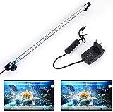 SolarNovo 18-112 cm LED Luz de acuario Iluminación subacuática Cubierta ligera superior Lámpara impermeable 5050 para tanque de peces con control remoto Cambio de color RGB (Azul & blanco, 1.8*57cm)