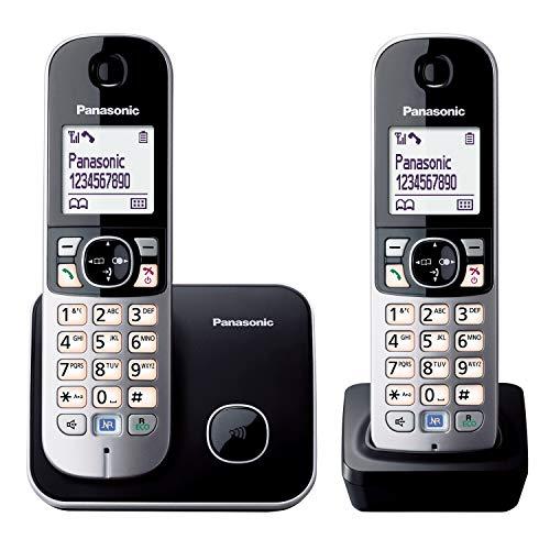 Panasonic KX-TG6812GB DECT-Schnurlostelefon (4,6 cm (1,8 Zoll) Grafik-Display) schwarz