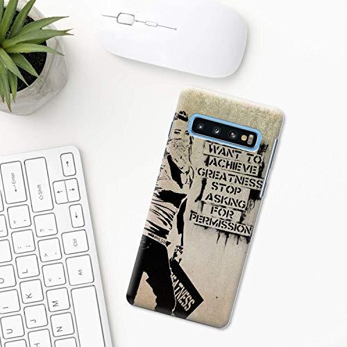 Banksy Hülle Samsung Galaxy S10 Plus S10e S9 S8 S7 edge S6 S5 note 8 9 10 Pro 5 Farbe Maler Kunst drucken Malerei Straße