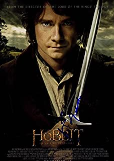 The Hobbit An Unexpected Journey Autographed Signed Poster UACC RD AFTAL