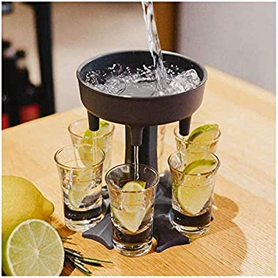 Glass Dispenser and Holder, Shots Dispenser Six Ways, Bar Shot Dispenser, Cocktail Dispenser, Dispenser With Slogan, Drinking Games Wine Dispenser (Shot Glass NOT Include)