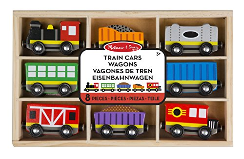 Melissa & Doug- Train Cars Juguetes Trenes Maderacon