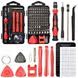 SHARDEN Precision Screwdriver Set, 122 in 1 Electronics Magnetic Repair Tool Kit with Case for Repair Computer, iPhone, PC, Cellphone, Laptop, Nintendo, PS4, Game Console, Watch, Glasses etc (Red)