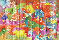 Qinunipoto 背景布 写真撮影用 背景 布 撮影 写真の背景 きのいた 木の板の背景 彩色図 鮮やかな色彩 子供の写真 ポートレート写真の背景 無反射布 写真スタジオ 撮影用道具 生放送 ポリエステル 洗濯可 1.5x1m