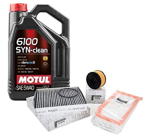 Originele reserveonderdelen – set voor motoren, 0,9 TCE, 1,2 TCe + motorolie Motul 6100 Syn-Clean 5 W-40, 5 liter