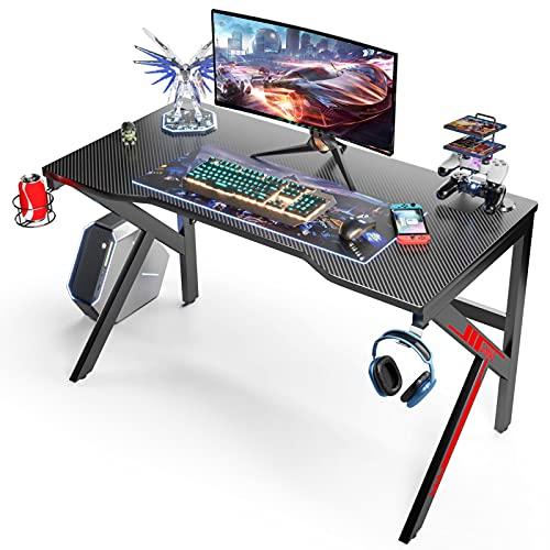 Mesa para Ordenador 120 CM, Mesa Gaming Mesa de Juegos para Ordenador Portátil Gaming, Escritorio...