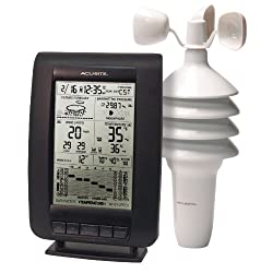 AcuRite 00634A3 Wireless Weather Station with Wind Sensor, Black