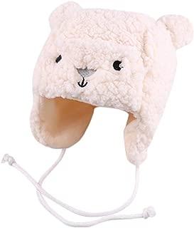 WOCACHI Baby Sherpa Cashmere Bear Earflaps Bomber Cap Toddler 2019 Winter Fuzzy Thick Head Wrap Earmuffs Hats