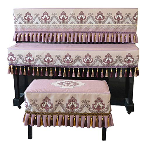 Purchase Piano cover Three-Piece New Fabric Dust Cover European Piano Stool Cover Simple Piano Half ...