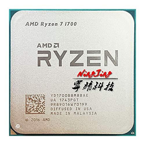 Ryzen 7 1700 R7 1700 3.0 GHz Eight-Core Sixteen-Thread CPU Processor 65W YD1700BBM88AE Socket AM4