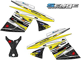 Compatible with Ski Doo 2003-2009 REV Chassis DEVIOUS Yellow Sled Wrap Kit