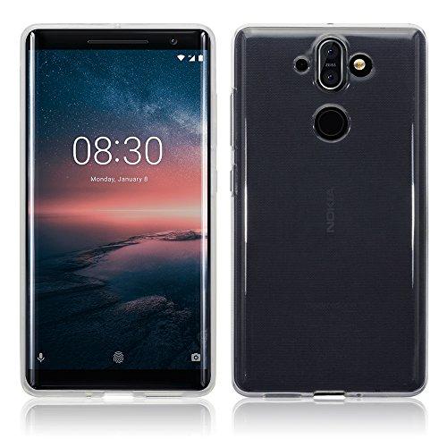 Nokia 8 Sirocco Custodia, Terrapin TPU Gel Custodia per Nokia 8 Sirocco Custodia, Colore: Trasparente Nero