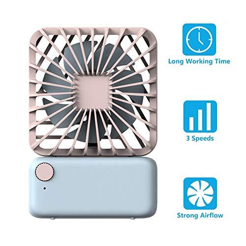 ATRNA USB-ventilator, handventilator, kleine maar krachtige stille draagbare ventilator voor desktop-office-tafel voor betere koeling met 3 snelheden B