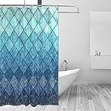 Best Royal bathroom scales - ZOEO Shower Curtain Backdrop Ocean Blue Teal Mermaid Review