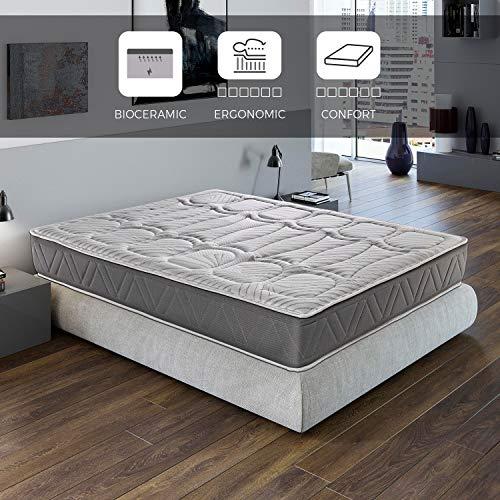 ROYAL SLEEP Colchón viscoelástico Carbono 135x190 firmeza Alta, Gama Alta, Efecto regenerador, Altura 29cm. Colchones Ceramic Premium