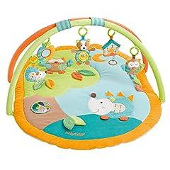 Fehn 071559 3-D-Activity-Ceiling Sleeping Forest / Play bow z 5 wymiennymi zabawkami Dla niemowląt Gra & zabawa od urodzenia / Wymiary: 80x105cm