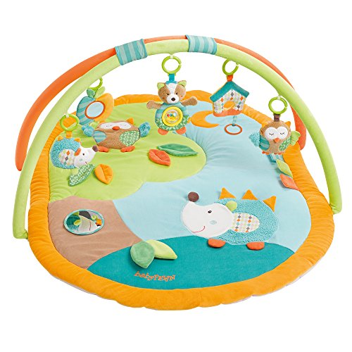 Fern - Manta 3D para juegos, arco de actividades con juguetes extraíbles para bebés, desde el nacimiento naranja Sleeping Forest (Producto para bebé)
