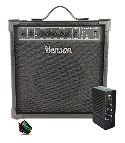 Benson Nashville 35 watt guitar Amplifier (Overdrive + Reverb + Bluetooth) FREE pocket amp and electronic tuner