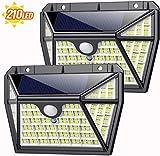 Solar Lights Outdoor 210led, Feob [Super Bright 2200Mah] Motion Sensor Light with 270°