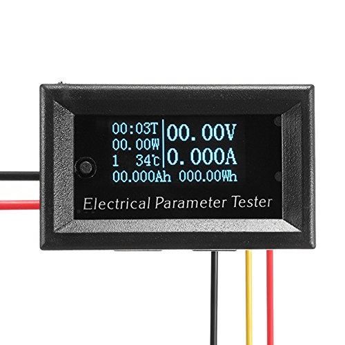 BliliDIY 33 V / 3A 7In1 Blau OLED Multifunktions-Tester Meter Spannung Strom Zeit Temperatur Kapazität Meter Elektrisches Voltmeter Amperemeter