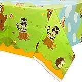 WERNNSAI Mantel de Animales del Bosque - 274 x 137 cm Cubiertas de Mesa Desechable Búhos Zorro...
