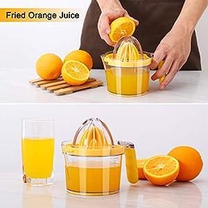 Drizom Citrus Lemon Orange Juicer Manual Hand Squeezer, Fruit Juicer Lime Press with Built-in Measuring Cup and Grater… |