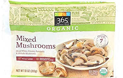 365 Everyday Value, Organic Mixed Mushrooms (Sliced White, Crimini, Portobello and Shiitake Mushroom