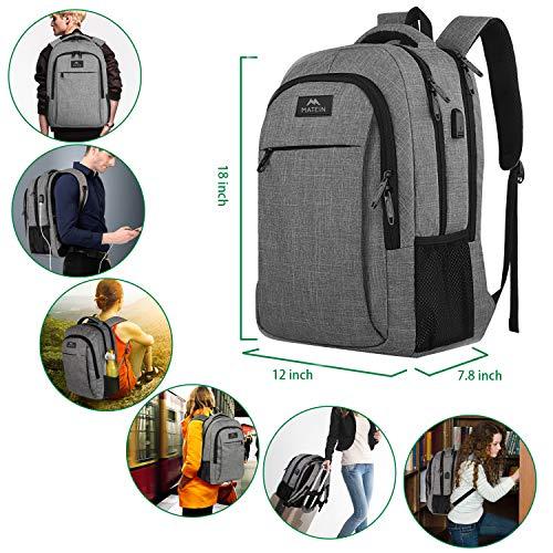 MATEIN Water Resistant Laptop Backpack for Women & Men