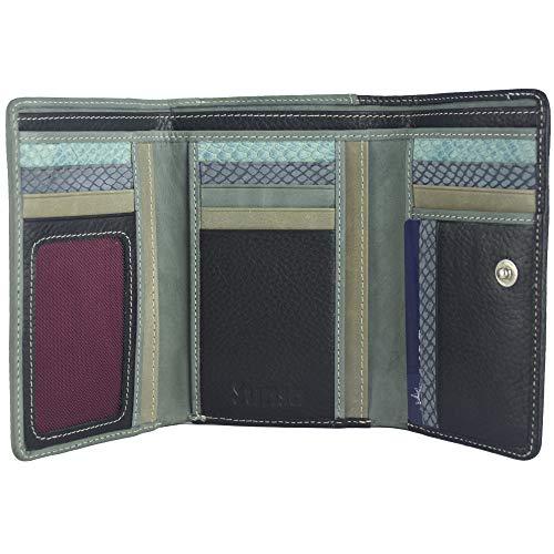 Sunsa Geldbörse für Damen großer Leder Geldbeutel Portemonnaie mit RFID Schutz Brieftasche mit viele Kreditkarten Fächer Geldtasche Wallet Purses for Women das Beste Gift kleine Geschenk 81636