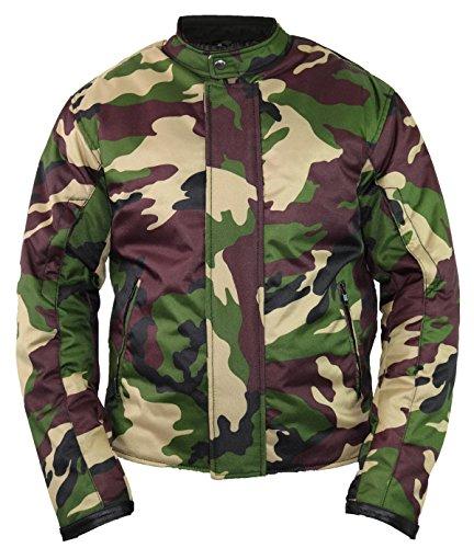 Camouflage Motorrad Jacke mit Protektoren (M)