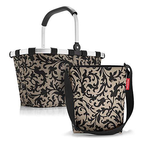 Set aus reisenthel Carrybag BK und reisenthel Shoulderbag HY, Einkaufskorb mit Kleiner Umhängetasche, Baroque Taupe