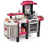 Smoby - 311304 - Tefal Cuisine Super Chef deluxe - Jeu d'Imitation - Multi -Fonctions - Module Electronique - + 46 Accessoires - Rouge