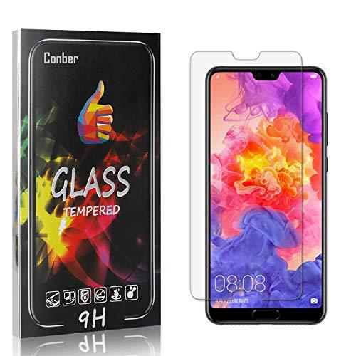 Conber [1 Pièces] Verre Trempé pour Huawei P20 Pro, Compatible avec Coques, Dureté 9H vitre de Protection, Film Protection Ecran pour Huawei P20 Pro
